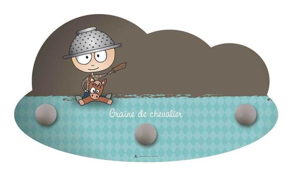 Portemanteau Mural Graine De Chevalier Diabolokids