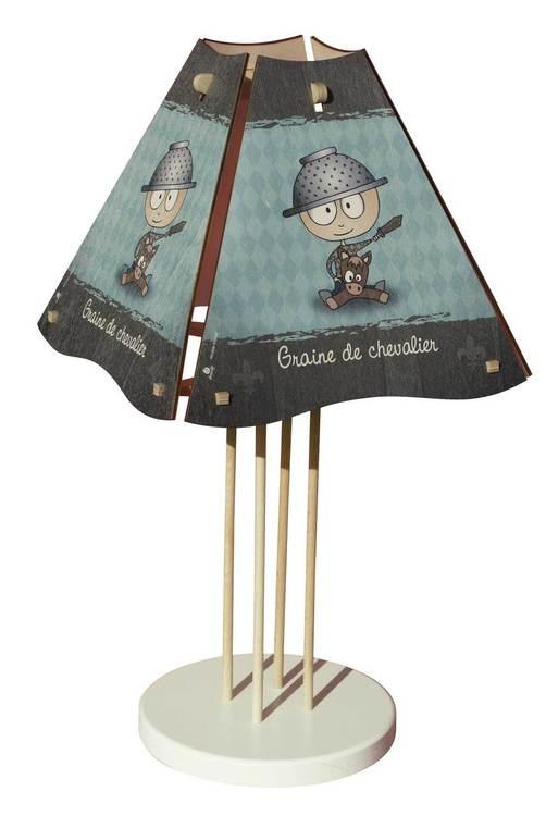 Lampe graine de chevalier diabolokids jouet meuble et for Lampe de chevet chevalier